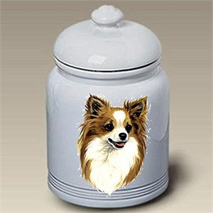 Longhaired Chihuahua Treat Jar