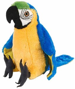 Macaw Parrot Plush Stuffed Animal 12""