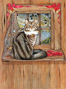 Maine Coon Cat Christmas Cards