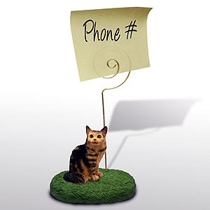 Maine Coon Cat Note Holder