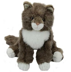 Davey the Maine Coon Cat Plush Stuffed Animal 16""