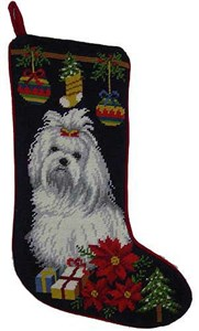 Maltese Christmas Stocking