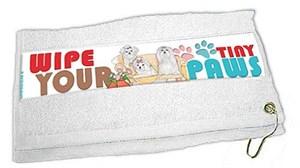 Maltese Paw Wipe Towel