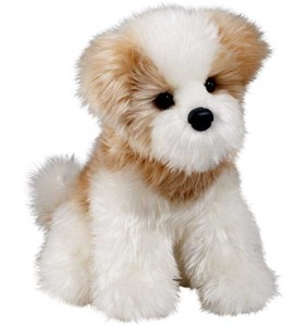 Maltese Plush Stuffed Animal 12 Inch