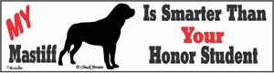 Mastiff Bumper Sticker Honor Student