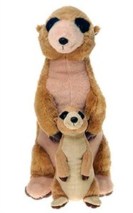 Meerkat With Baby Plush Stuffed Animal 13""