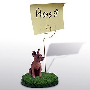 Miniature Pinscher Note Holder