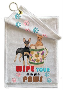 Miniature Pinscher Paw Wipe Towel