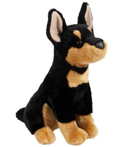 Miniature Pinscher Plush Stuffed Animal 12 Inch