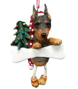 Miniature Pinscher Christmas Tree Ornament - Personalize