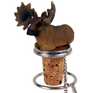Moose Bottle Stopper (Bull)