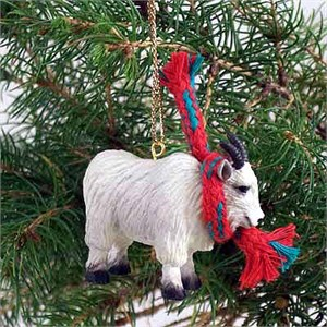 Mountain Goat Tiny One Christmas Ornament