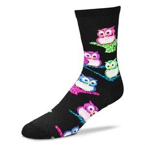 Neon Owls Socks
