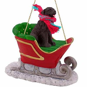 Newfoundland Sleigh Ride Christmas Ornament