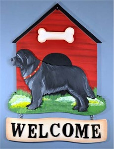 Newfoundland Welcome Sign Black