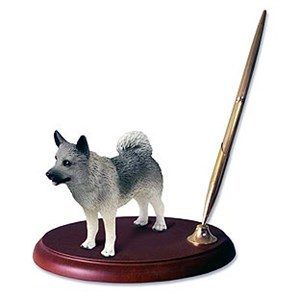Norwegian Elkhound Pen Holder