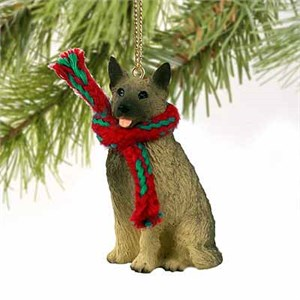 Norwegian Elkhound Tiny One Christmas Ornament
