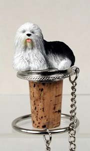 Old English Sheepdog Bottle Stopper