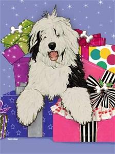 Old English Sheepdog Christmas Cards