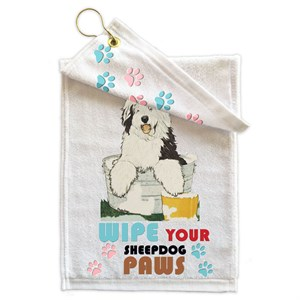 Old English Sheepdog Paw Wipe Towel