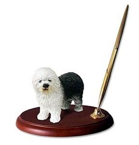 Old English Sheepdog Pen Holder