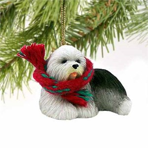 Old English Sheepdog Tiny One Christmas Ornament