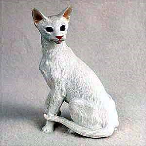 Oriental Cat Figurine White