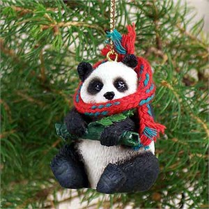Panda Bear Tiny One Christmas Ornament