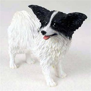 Papillon Figurine Black-White
