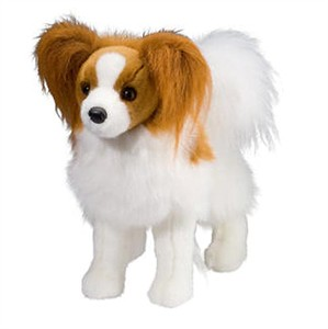 Feathers the Papillon Plush Stuffed Animal 16""