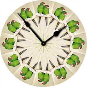 Parakeet Wall Clock