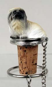 Pekingese Bottle Stopper