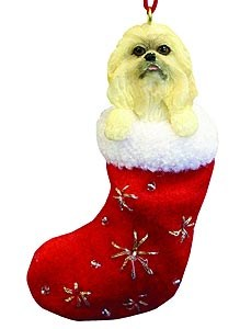 Pekingese Christmas Stocking Ornament