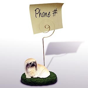 Pekingese Note Holder