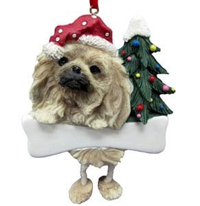 Pekingese Christmas Tree Ornament - Personalize