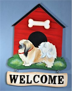 Pekingese Welcome Sign