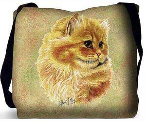 Persian Cat Tote Bag (Cameo)