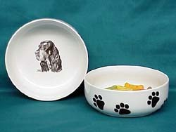 Gordon Setter Dog Bowl