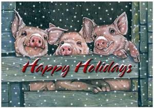 Pig Christmas Cards