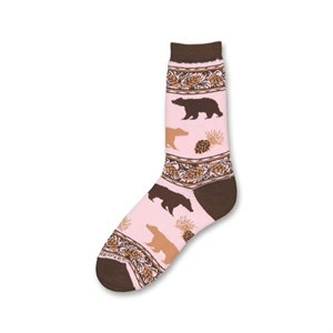 Pink Bear Socks