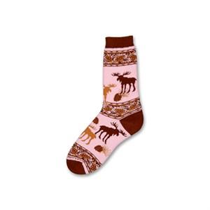 Pink Moose Socks