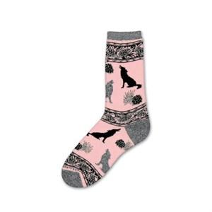 Pink Wolf Socks