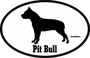 Pit Bull Bumper Sticker Euro