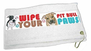 Pit Bull Terrier Paw Wipe Towel
