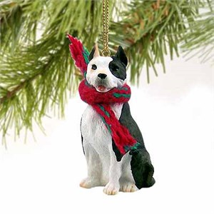 Pit Bull Terrier Tiny One Christmas Ornament Brindle