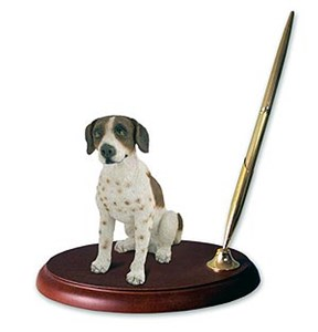 Pointer Pen Holder (Brown & White)