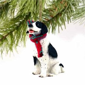 Pointer Tiny One Christmas Ornament Black-White