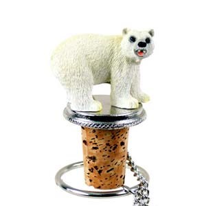 Polar Bear Bottle Stopper