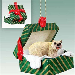 Polar Bear Gift Box Christmas Ornament