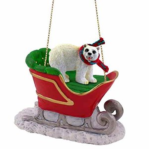 Polar Bear Sleigh Ride Christmas Ornament
